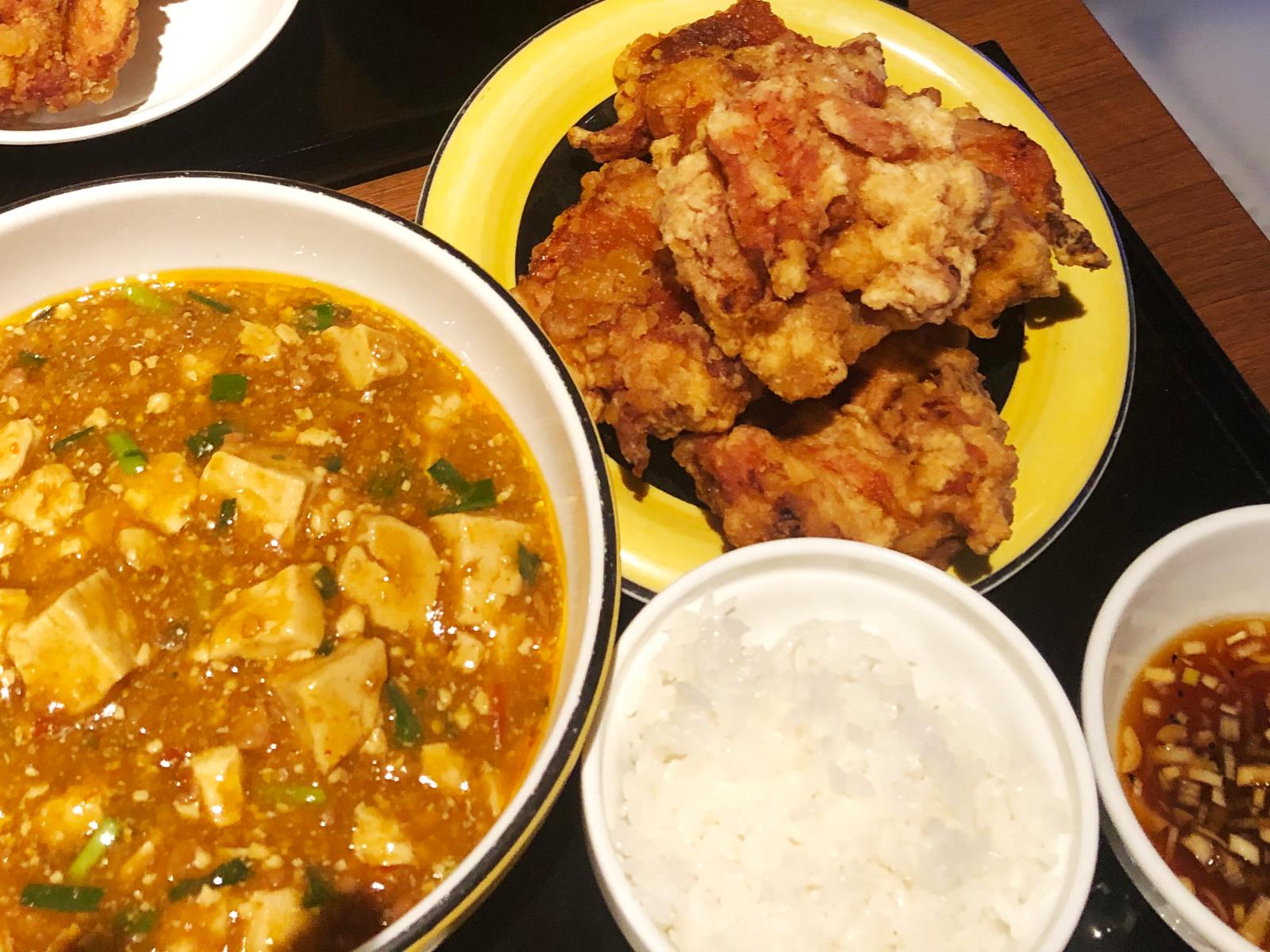 札幌・布袋のマーボー麺とザンギ