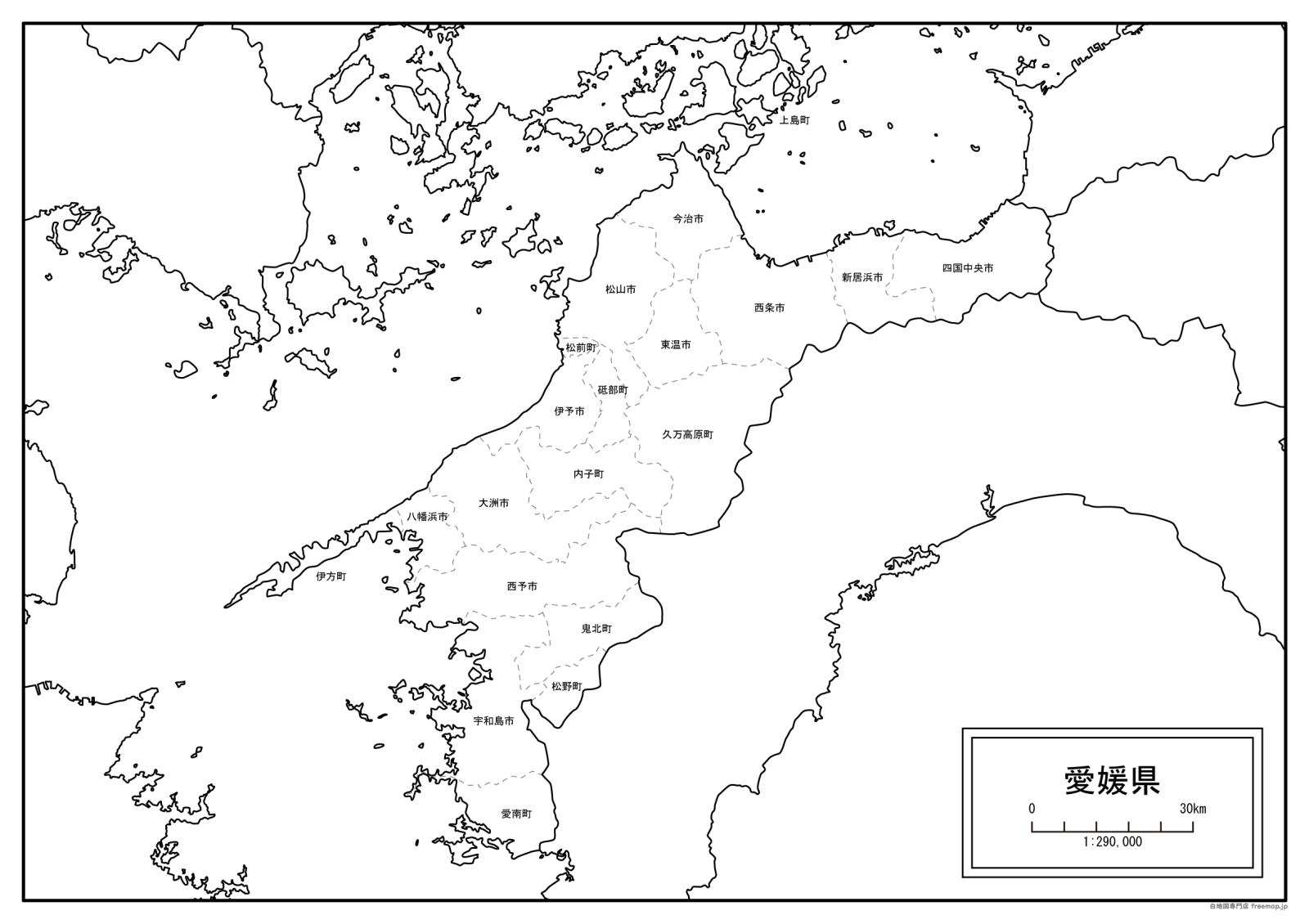 愛媛県白地図