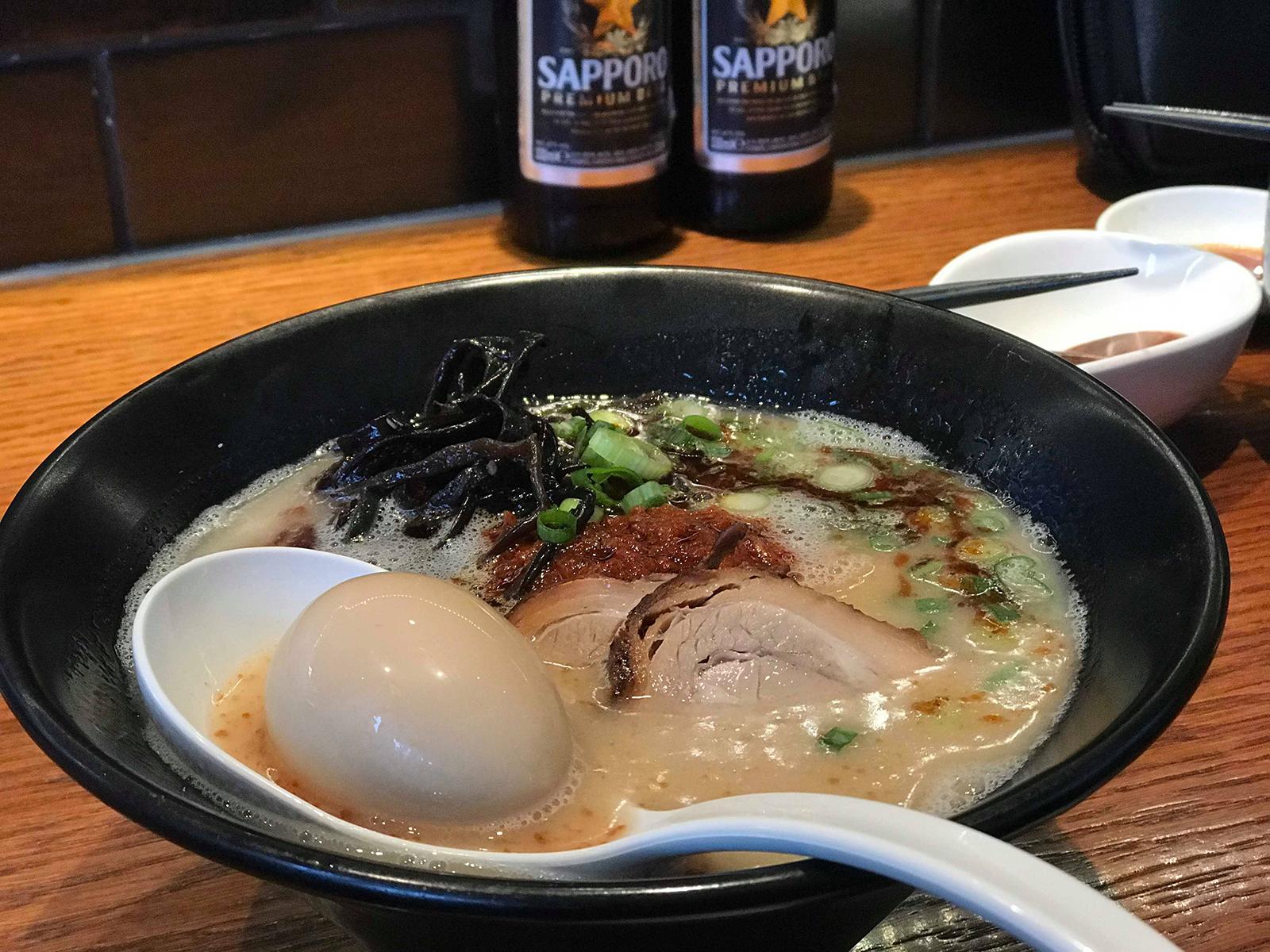 「細麺×とんこつ」
