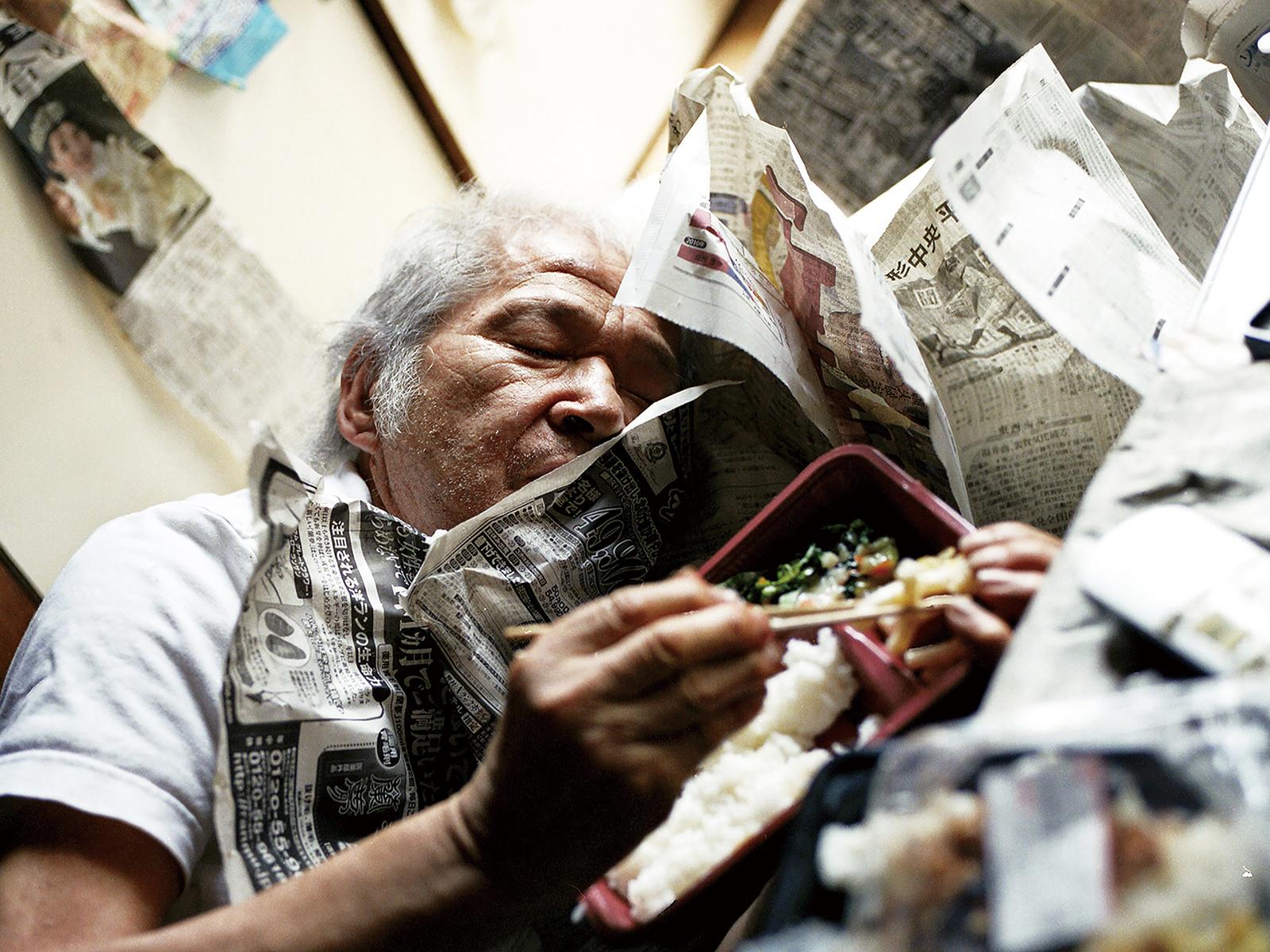 写真を見下ろす展示方法をとった「KG+SELECT 2019」の様子。©Atsushi Fukushima