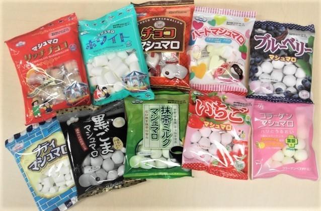 のど飴やコラーゲン入りなど多種多様な商品が展開されている