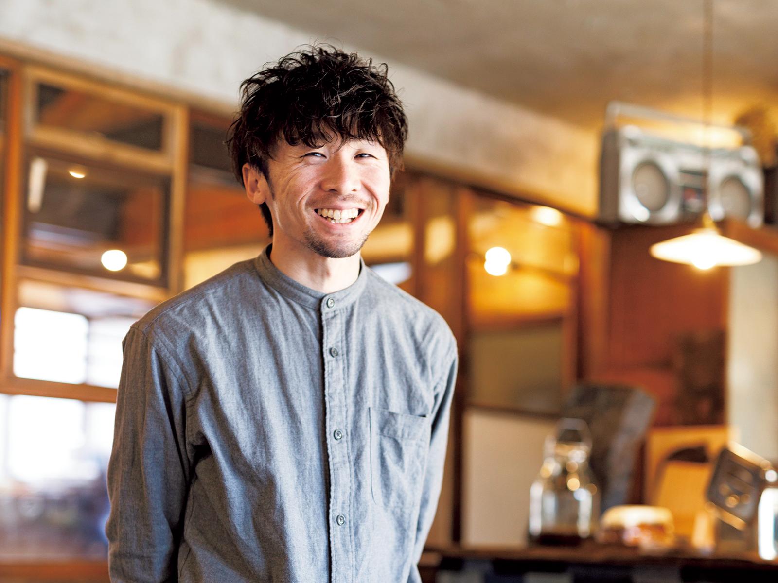 「必要なものは自分たちで生み出したい」と話す、オーナーの川島佳輔さん。