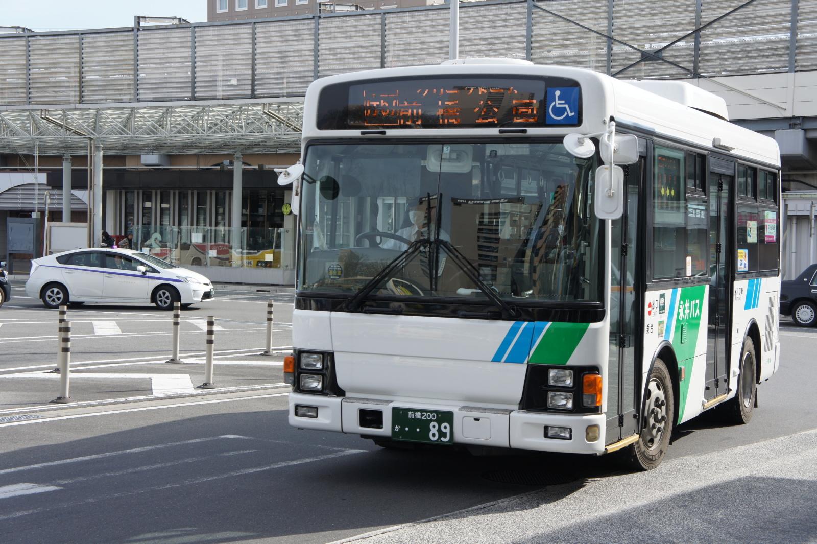 前橋市内を循環する永井バス