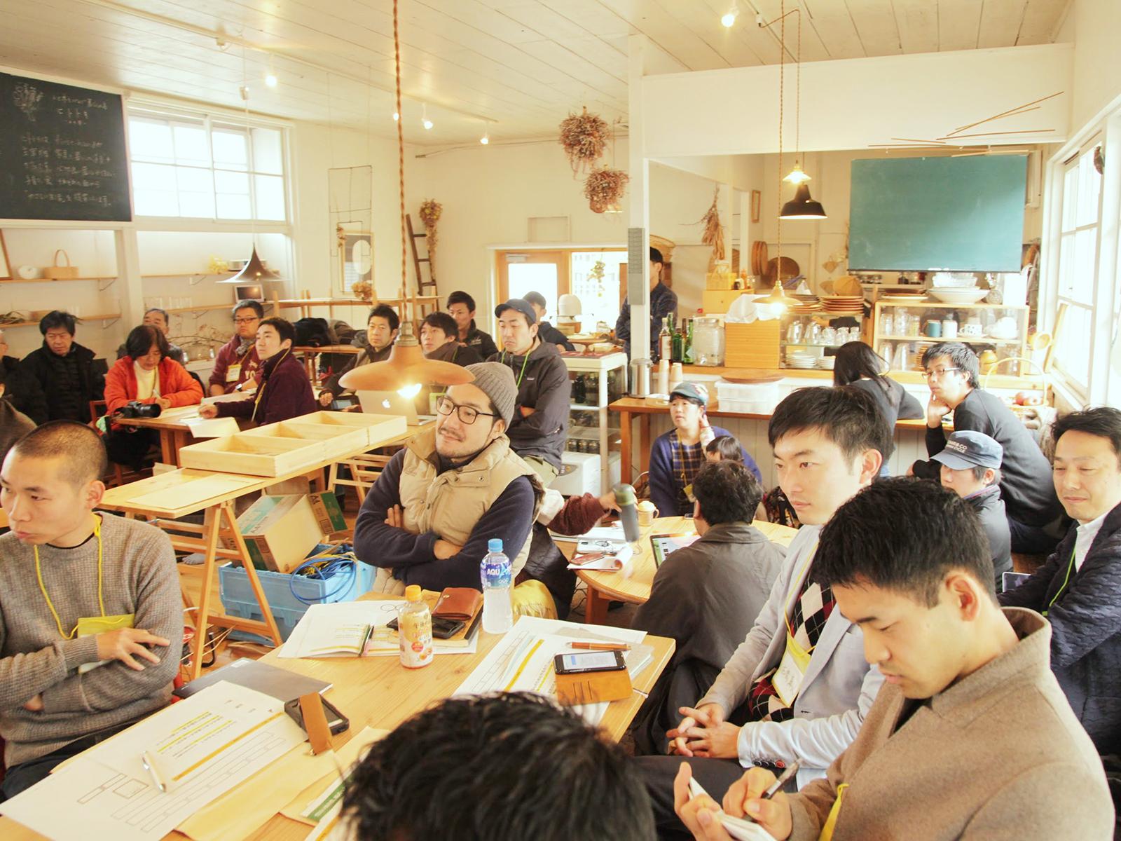 『コワーキングスクールキャンプ』にて、コワーキングスペースの運営方法を指南する。