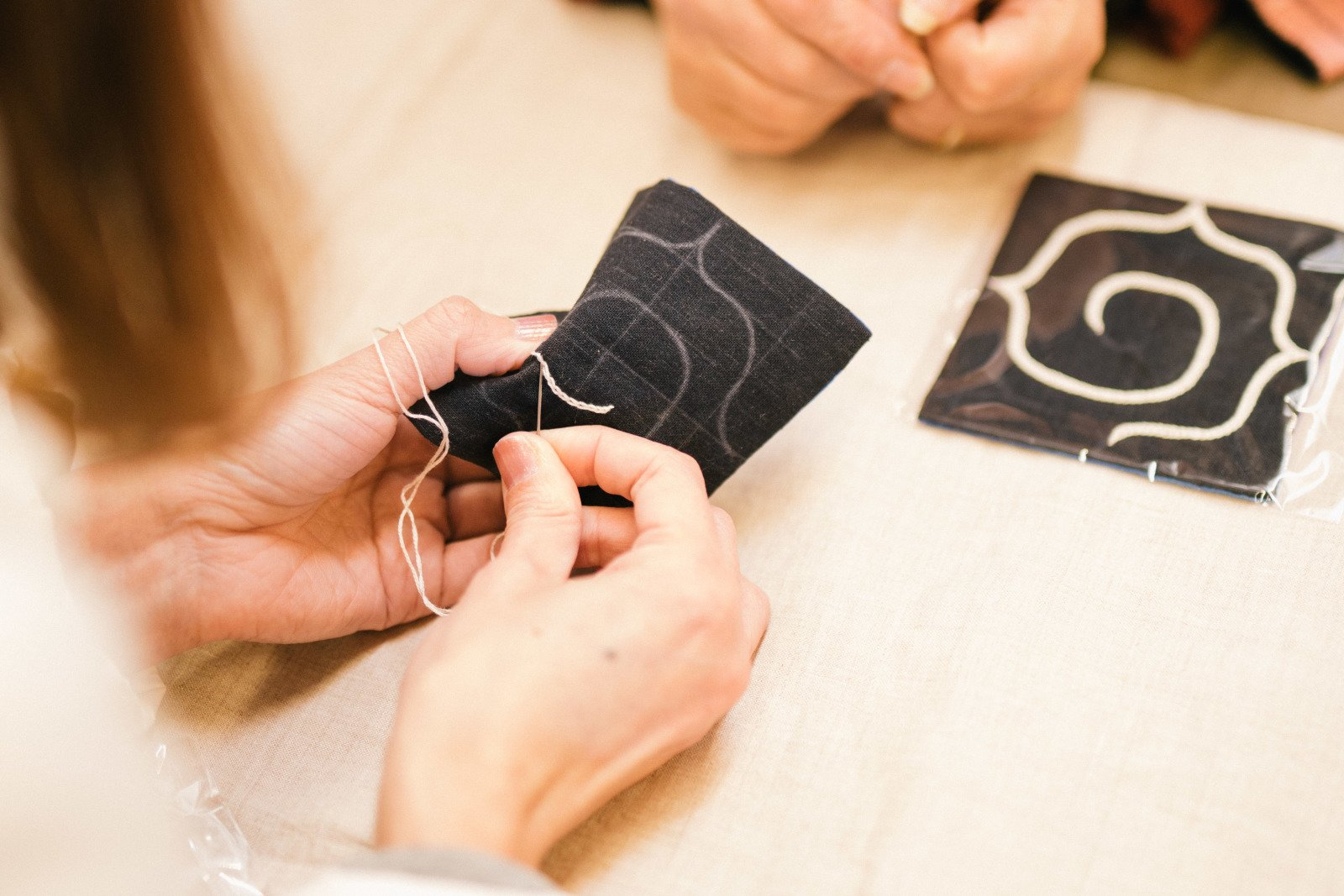 創る時間刺繍