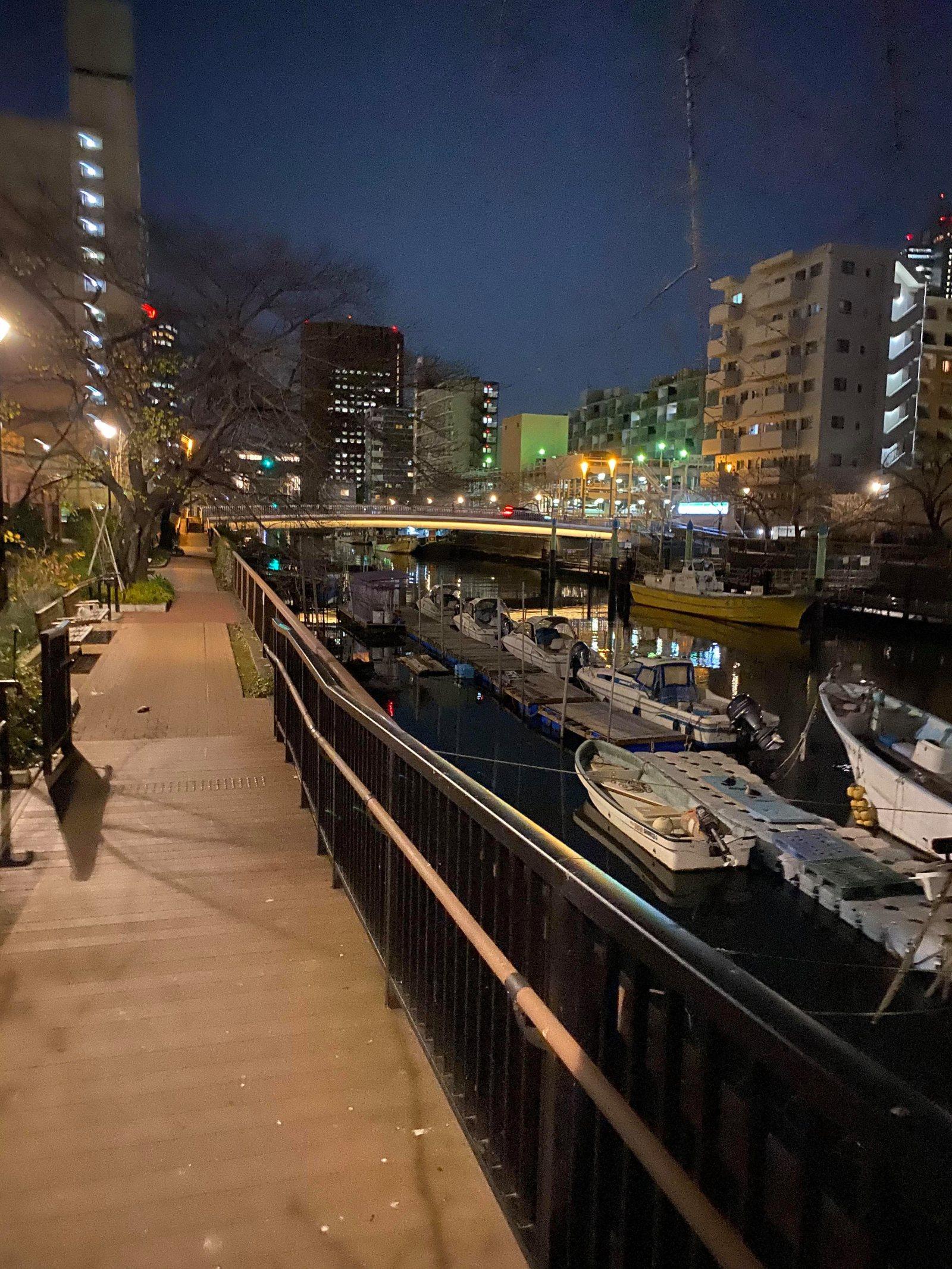 東京の湾奥は、明るくて足場のよいところが多い。ルールとマナーを守ってね!