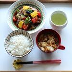 夏野菜の南蛮漬け定食