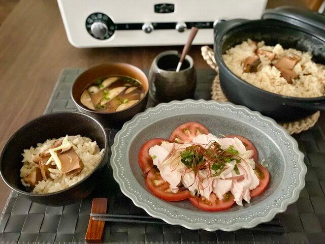 初秋の晩御飯に☆*° 高知の食材をふんだんに使った「鰹角煮の簡単炊き込みご飯」と「蒸し鶏のサッパリ酢ダレ」
