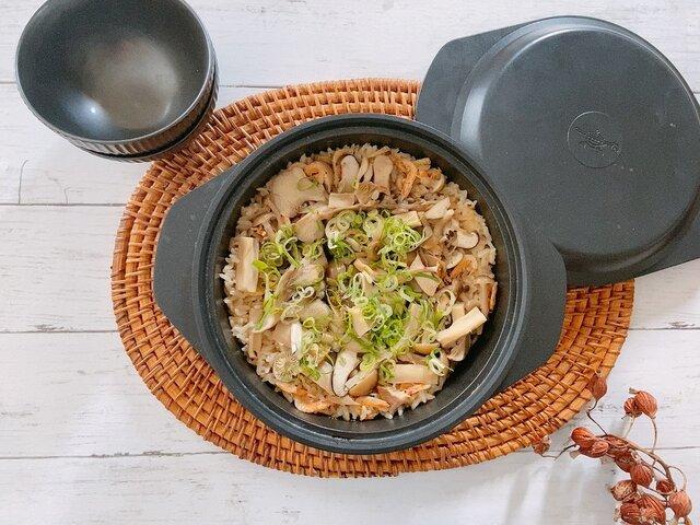 たっぷりきのこの中華風炊き込みご飯