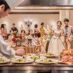 大人気!ゲストの五感を刺激する、婚礼料理演出