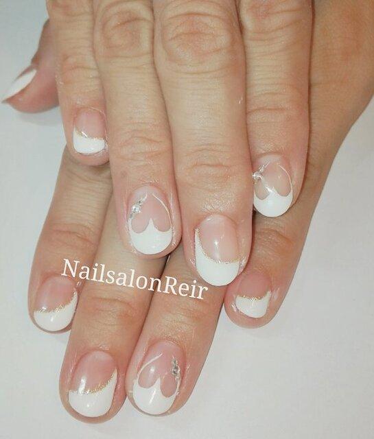 ハートフレンチネイル|Nail salon Reir