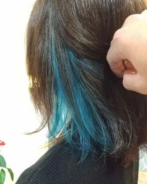 インナーカラー × ブルー