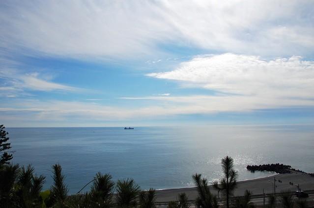 【浦戸城】城趾から見た西浜の眺め