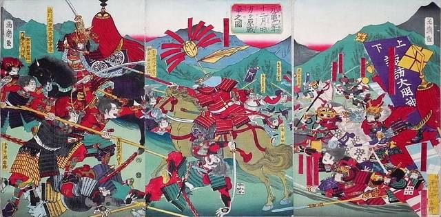 三方ヶ原の戦いの錦絵