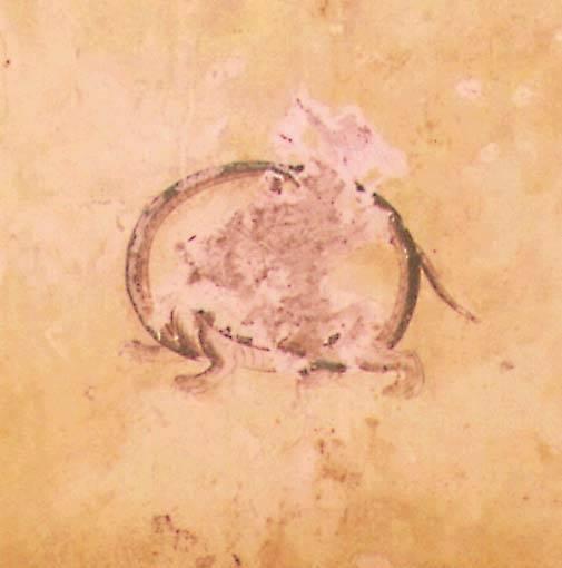 高松塚古墳に描かれた玄武-亀と蛇が合体した霊獣