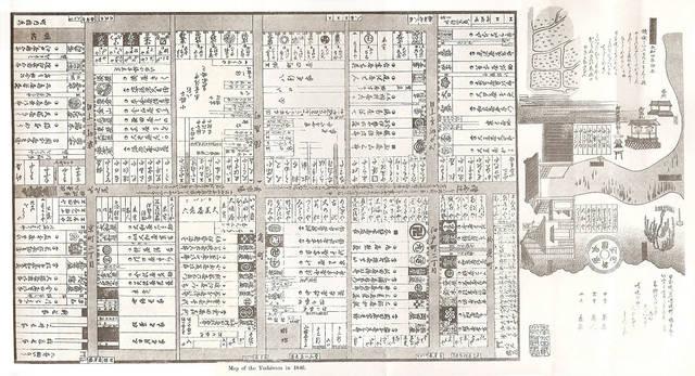 江戸末期の新吉原の見取り図