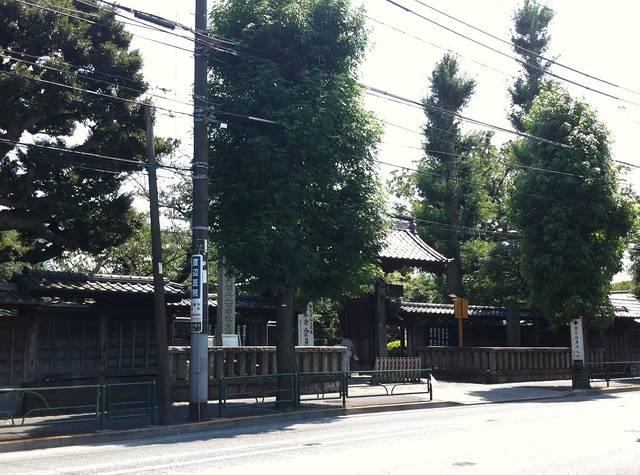 駒沢通りから臨んだ祐天寺