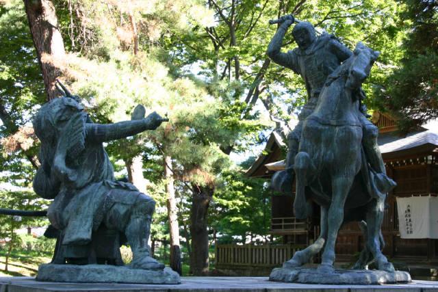 八幡原史跡公園(川中島古戦場) 信玄と謙信の一騎打ちの像