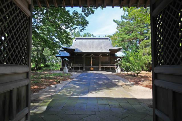本間光丘が祀られている光丘神社(山形県酒田市)