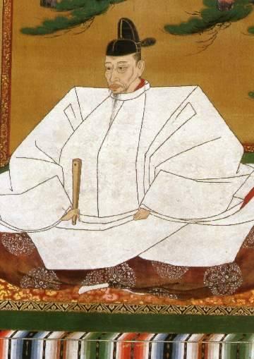 豊臣秀吉肖像の一部(高台寺所蔵)