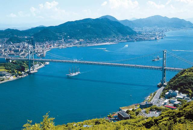 壇ノ浦の戦いの舞台となった関門海峡