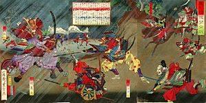 『尾州桶狭間合戦』(歌川豊宣画)