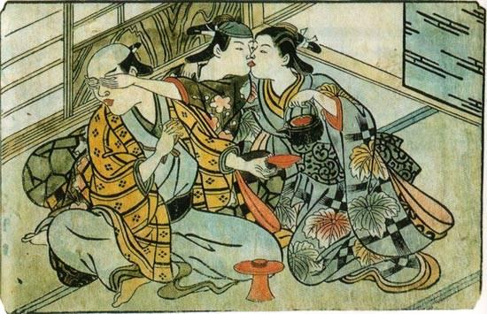 京の宮川町の陰間茶屋にて。