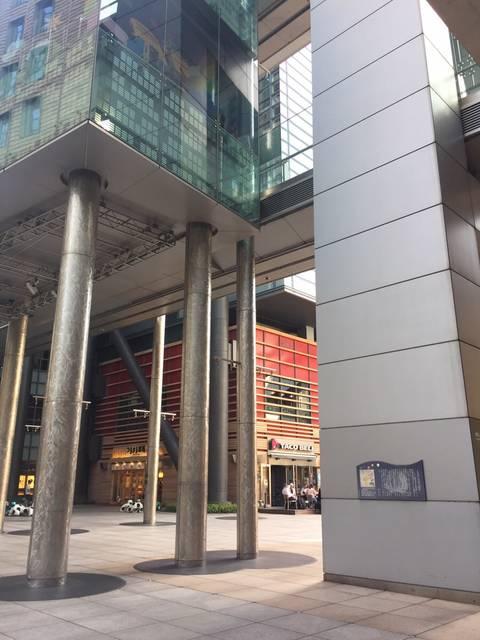 日本テレビ・ゼロスタ広場で説明サイン発見