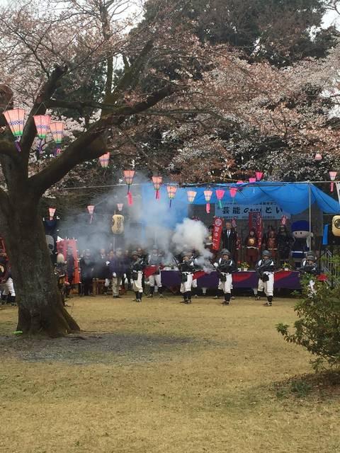 毎年4月に開催される滝山城跡桜祭り