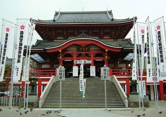 大須商店街の中心にある大須観音(愛知県名古屋市中区)