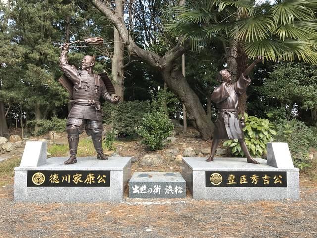 浜松元城町東照宮の家康&秀吉像