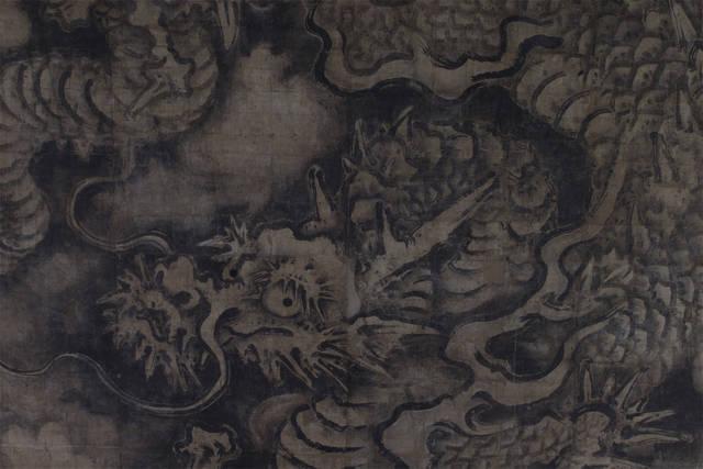 法堂内天井画 狩野探幽筆「雲龍図(拡大」(重要文化財)