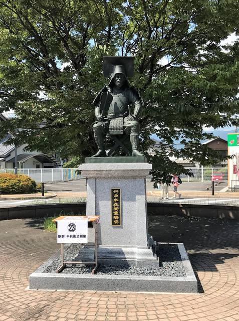 垂井駅前・竹中半兵衛(重治)公銅像