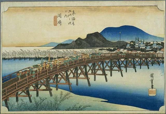 「岡崎二十七曲がり」の終点・矢作橋