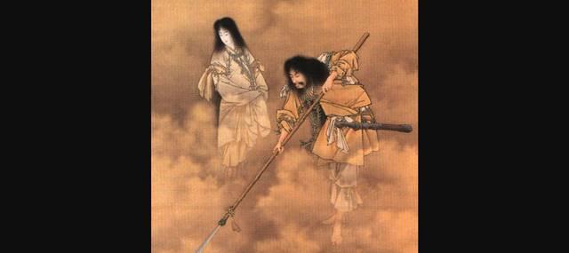天瓊を以て滄海を探るの図(小林永濯・画、明治時代)