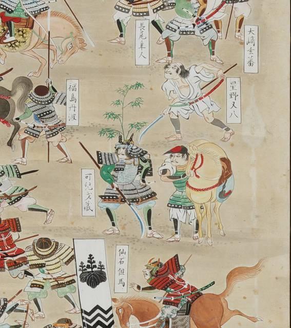 最強の武将 可児才蔵(関ケ原合戦図屏風)
