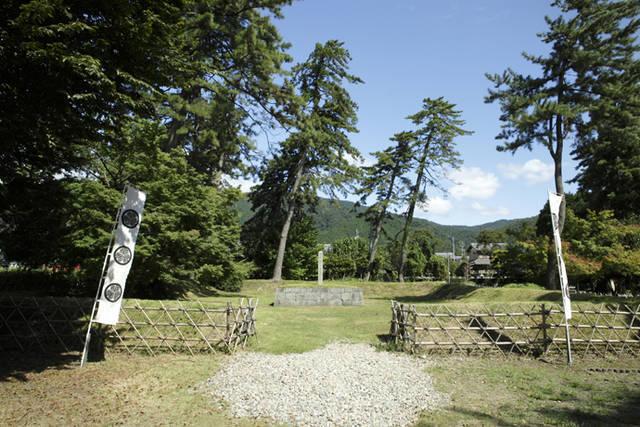 「徳川家康最後陣跡」のある陣場野公園