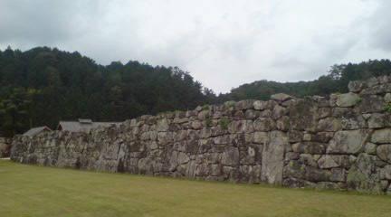 吉川元春館跡の石垣