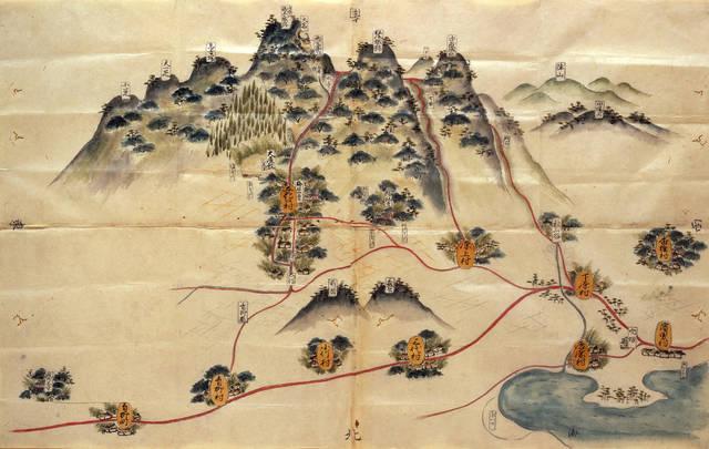 重要文化財 立花山絵図
