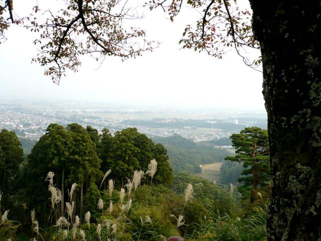 春日山城本丸からの景色