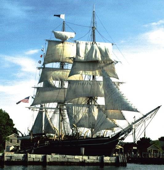 19世紀のアメリカの捕鯨船