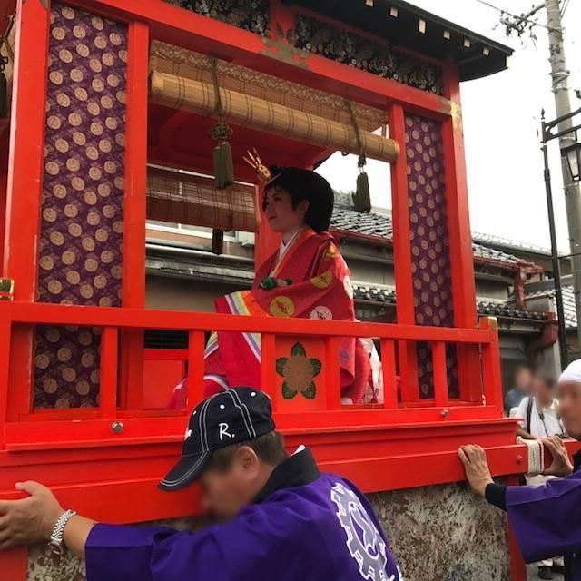 「中山道垂井宿まつり」の姫君下向行列