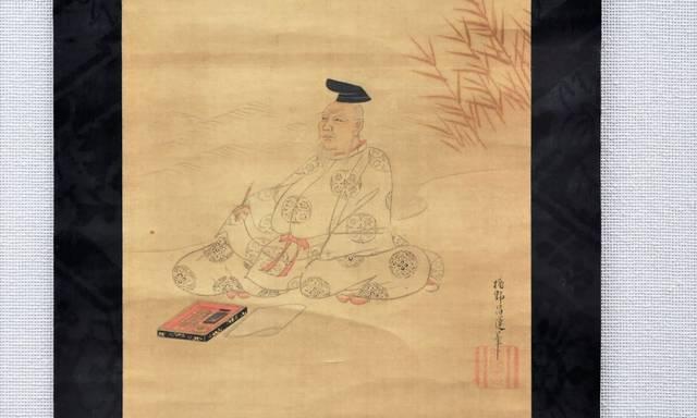 「柿本人麿図」江戸時代(17世紀)狩野昌運筆
