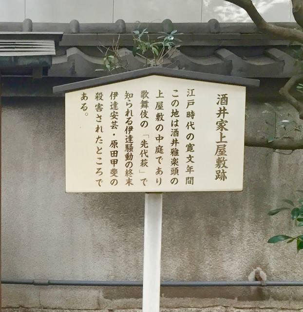 将門塚にある「酒井家上屋敷跡」