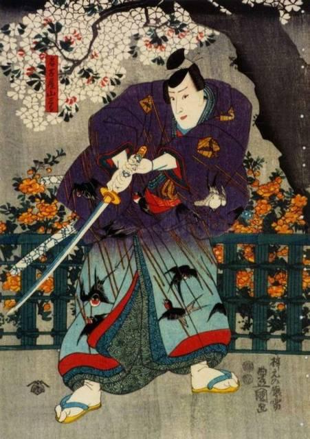 名古屋山三郎を描いた浮世絵