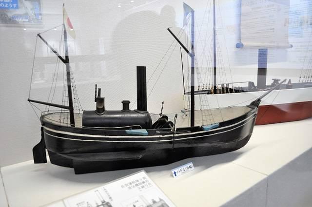 「蒸気船雛形」(外輪船)/佐賀県重要文化財・安政2年(...