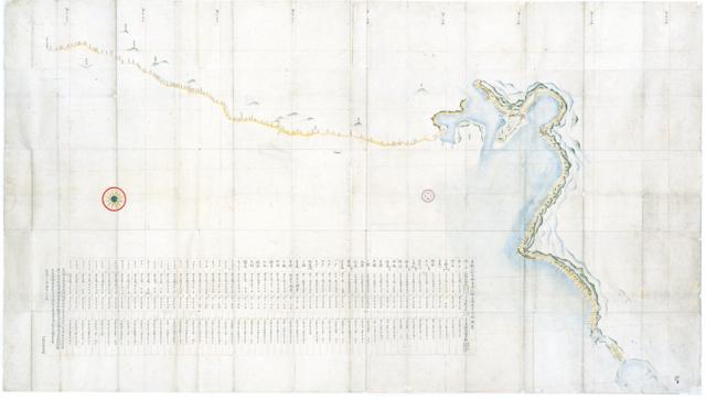 「寛政十二年測量小図」寛政12年(1800)作成。伊能...
