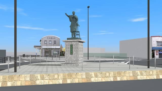 銅像建立イメージ