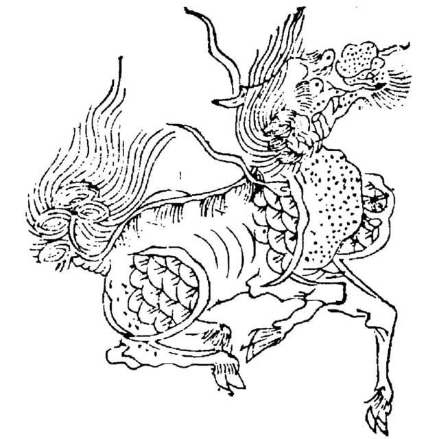 中国・明の時代に描かれた麒麟