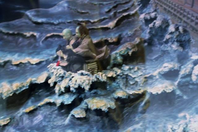 「月照上人と錦江湾に入水」(西郷南洲顕彰館所蔵)